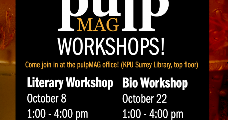 Join Us for Our Workshops!