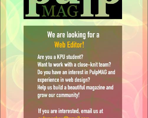 pulp is hiring a web editor!