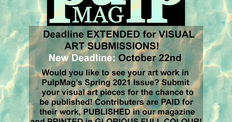 Submissions Extended for Spring 2021 Art!